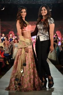 Manasvi Mamgai with designer Charmi Shah