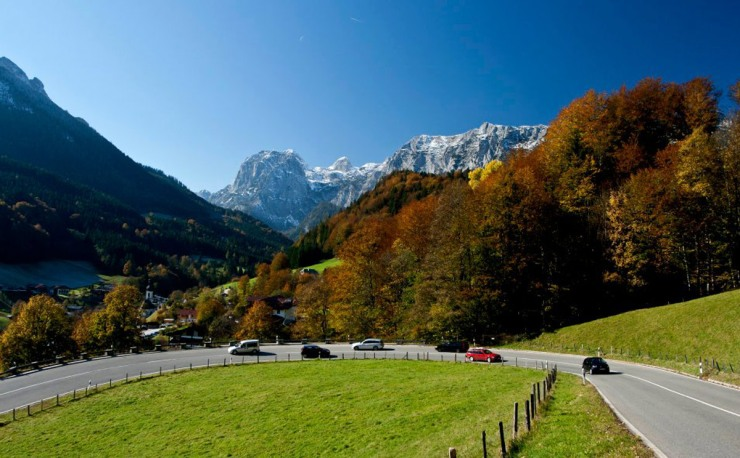 450 km road trip between Lindau and Berchtesgaden