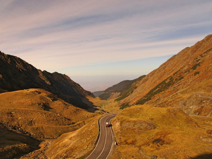 Transfagarasan Fagaras Mountains in Romania
