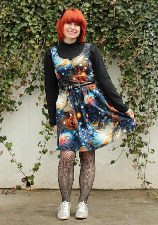 Black_Mock_Neck_Sweater_Under_a_Galaxy_Print_Dress_with_Herringbone_Patterned_Tights_and_Silver_Shoes_(17122234941).jpg