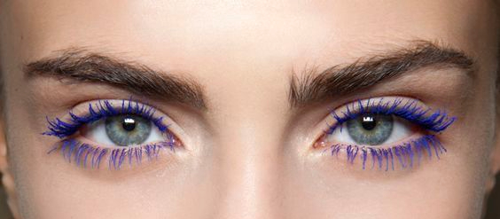 Coloured mascara ugly fashion trend