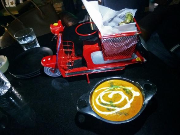 Paneer Makhanwala main course at Bombay Adda rooftop in mumbai