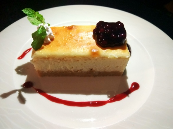 Bluebbery Cheese cake dessert at Bombay Adda rooftop in mumbai