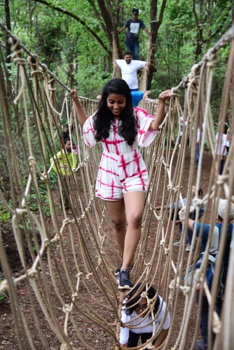 Caught in action - Burma Bridge at Durshet Forest Lodge