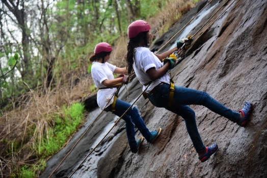 Rappeling near mumbai at durshet forest lodge adventure sports.JPG