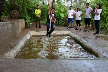 Tarzan jump adventure sport at durshet forest lodge resort near mumbai
