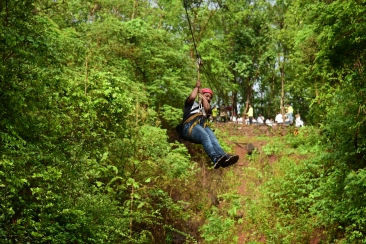 Zip lining at Durhset Forest Lodge near mumbai Adventure sports