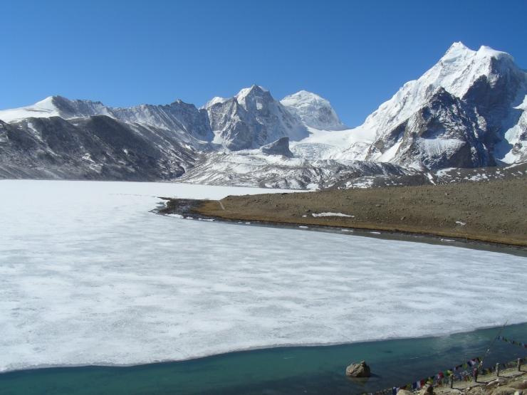 Gurudongmar lake rare in India sikkim