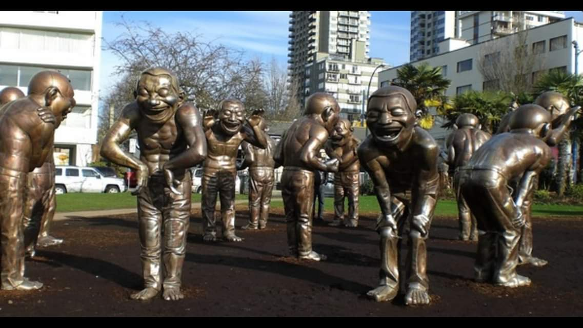 Vancouver laughing man statue